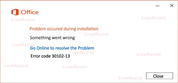 error code 30102-13