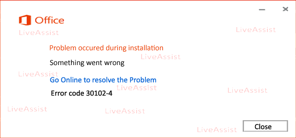 error code 30102-4