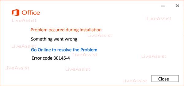 error code 30145-4