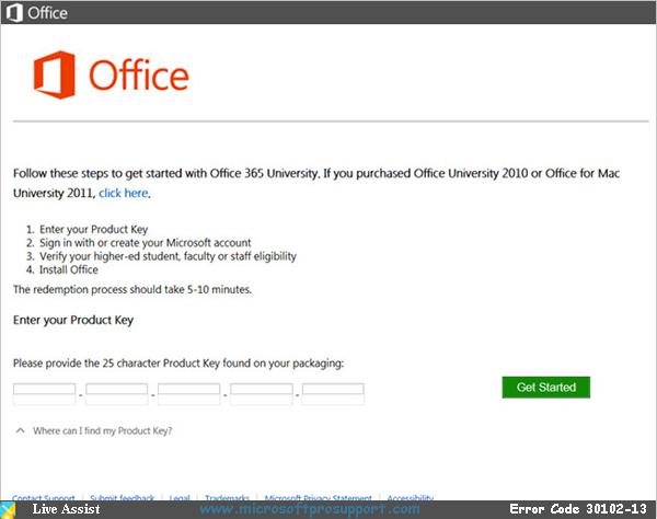 office 2013 error 30102-13