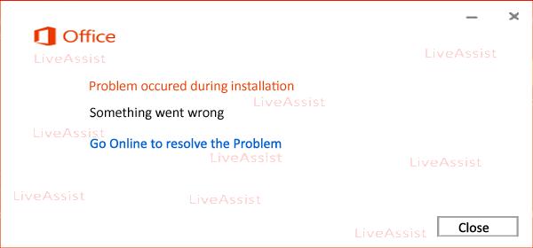 Something went wrong error code