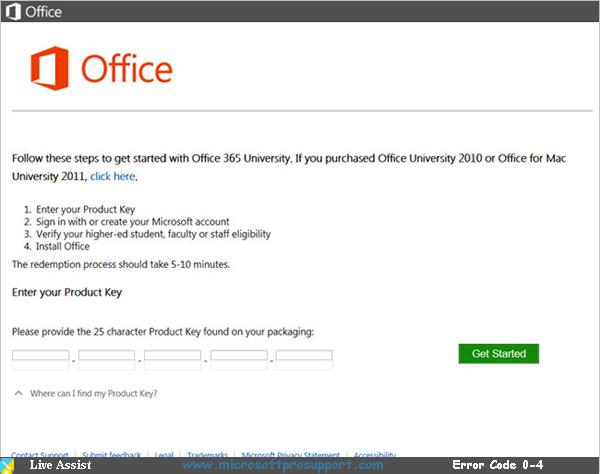 office 2013 error code 0-4