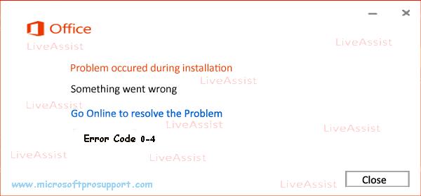 error code 0-4