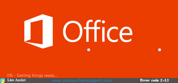 Microsoft Office Error Code 2-13