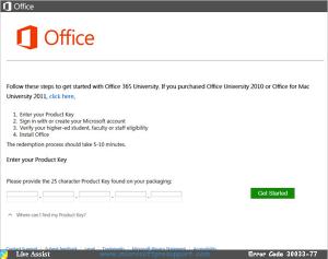 office 365 error code 30033-77