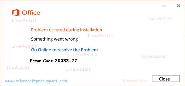 error code 30033-77