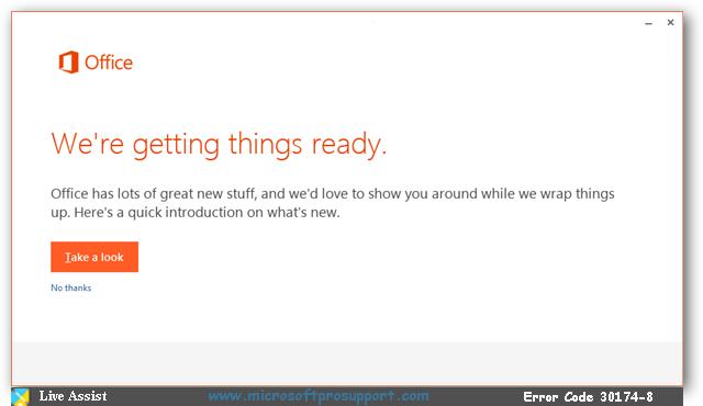 Microsoft Office Error Code 30174-8