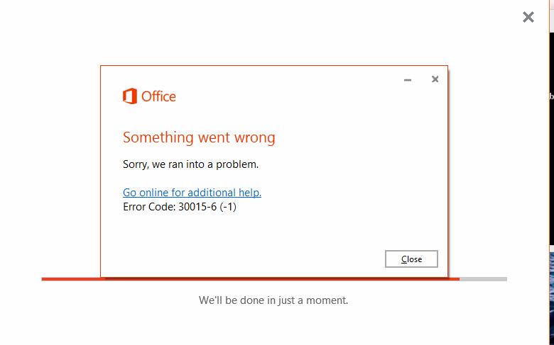 Office error code 30015-6