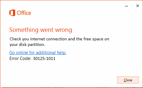 error code 30125-1011
